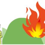 イラスト:山火事を考える