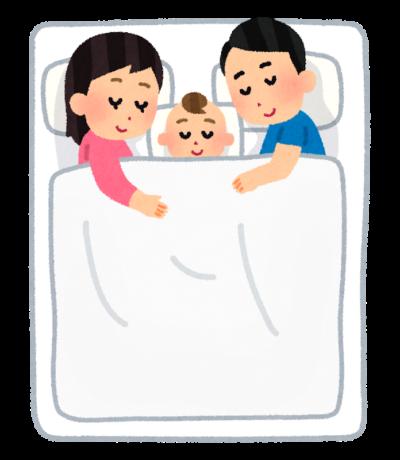 イラスト:父親と母親との子ども